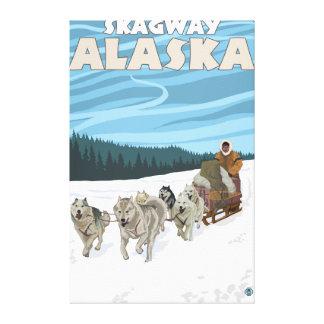Sledding plats för hund - Skagway, Alaska Canvastryck