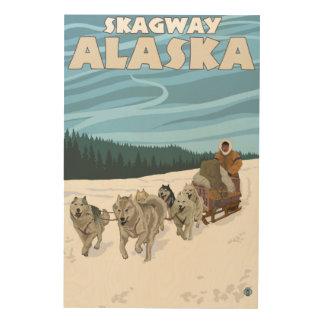 Sledding plats för hund - Skagway, Alaska Trätavla