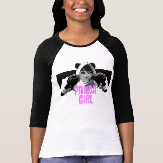 Sleeve för Pandaflickasvart Tee Shirt