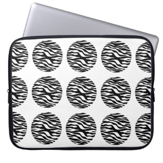 Sleeve för zebra tryckpolka dotselektronik laptopskydd fodral