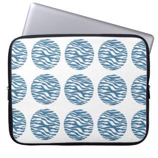 Sleeve för zebra tryckpolka dotselektronik laptop datorfodral