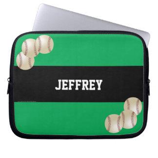 Sleeve, grönt & svart för baseballbärbar laptop sleeve