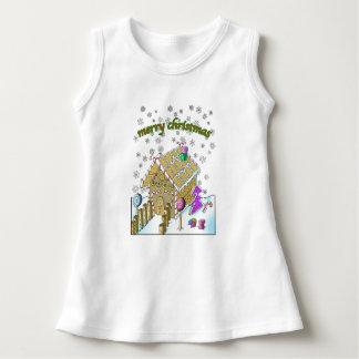 Sleeveless klänning för baby, god jul tee shirts