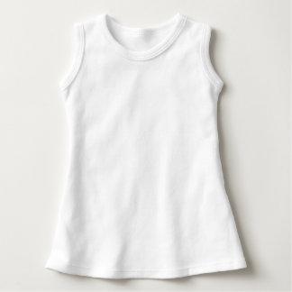Sleeveless klänning för baby tee shirt