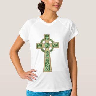 Sleeveless Ladies för guld- Celtickor mikrofiber Tshirts