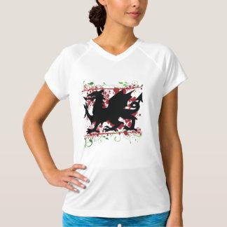 Sleeveless Ladies för walesisk drake mikrofiber Tee Shirts