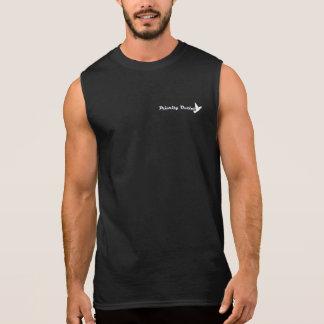 Sleeveless T-tröja för prioritet - vit på mörk Ärmlösa Tröjor
