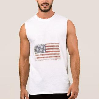 Sleeveless utslagsplats med den kalla USA flaggan