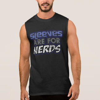 Sleever är för nerdst-skjorta ärmlös t-shirt
