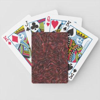 Slemmig röd organisk kuslig främmande köttstruktur spelkort