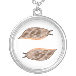 Slemmigt kulahalsband silverpläterat halsband