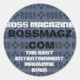 slide.001 BOSSMAGZ .COM, BESTENTERTAINMENTEN… Runt Klistermärke