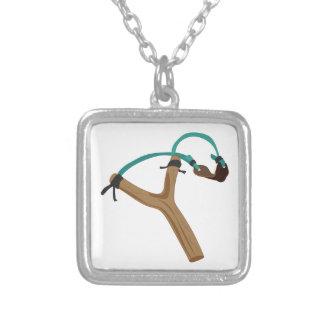 Slingshot Silverpläterat Halsband