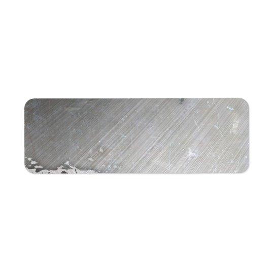 Sliten borstad orientering för metall (faux) returadress etikett