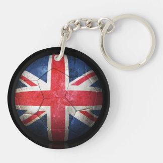 Sliten brittisk boll för flaggafotbollfotboll