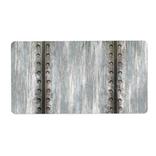 Sliten fastnitad texturerad metallGrunge Fraktsedel