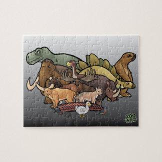 Slocknade djur - pussel