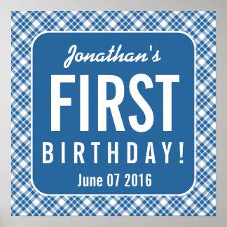 SLÖSA den 1st födelsedagen en årig Z07N för den Poster