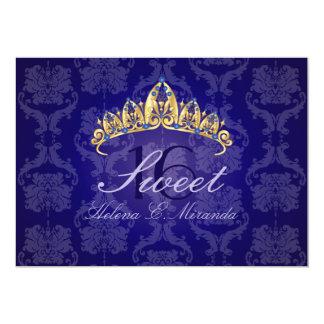 Slösa den damastast tiaraen för sötsak 12,7 x 17,8 cm inbjudningskort