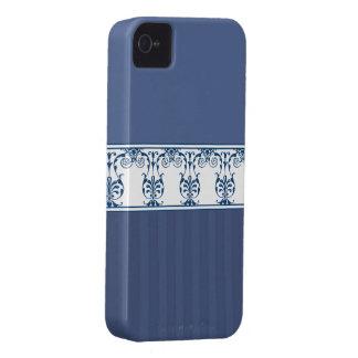 Slösa klassiska blommor och görar randig fodral iPhone 4 case