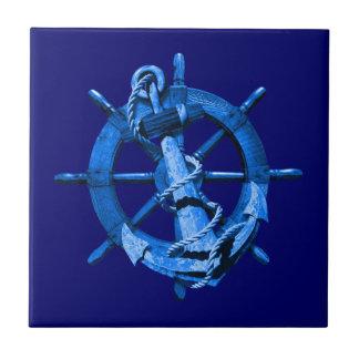 Slösa nautiska frakter rullar och ankrar kakelplatta
