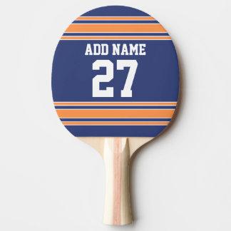 Slösa orange sportar Jersey med ditt namn & numrer Pingisracket