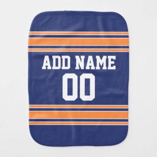 Slösa orange sportar Jersey med namn och numrera Bebistrasa
