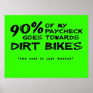 Slösad affisch för Motocross för pengarsmutscyklar