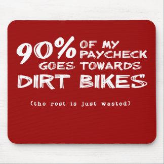 Slösad Motocross Mousepad för pengarsmutscykel Musmatta