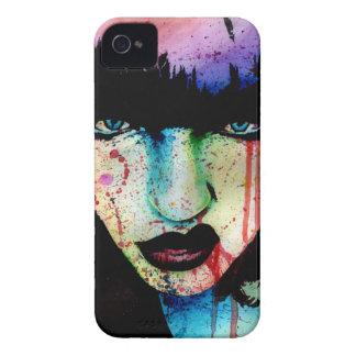 Slösad ungdom - Punk porträtt för stenregnbågefasa iPhone 4 Cases