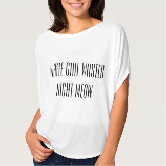 Slösade höger för vit jamar flickan t-shirt