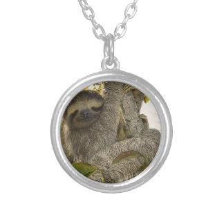 Sloth Halsband Med Rund Hängsmycke