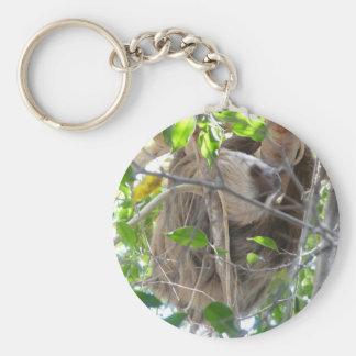 sloth rund nyckelring