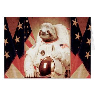Slothastronaut-sloth-utrymme sloth-sloth gåvor hälsningskort