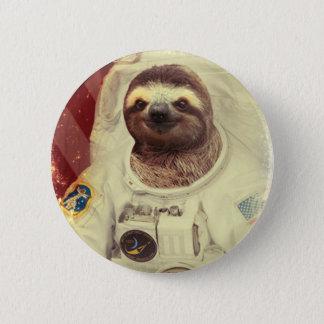 Slothastronautet knäppas standard knapp rund 5.7 cm