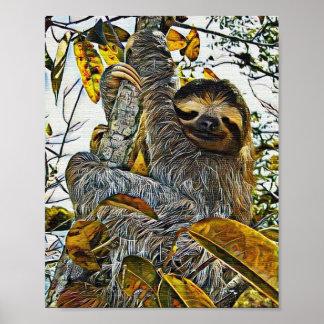SlothDigital målning Poster