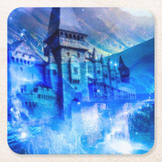 Slott av exponeringsglas underlägg papper kvadrat