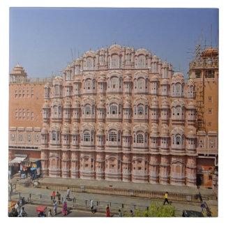 Slott av vind (Hawa Mahal), Jaipur, Indien, Kakelplatta