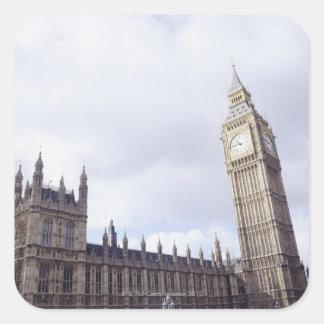 Slott av Westminster och stora Ben Fyrkantigt Klistermärke