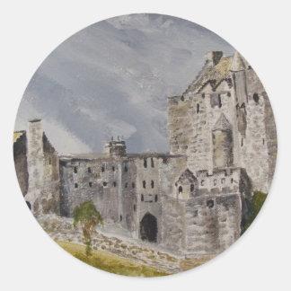 Slott för 006 Eilean Donan, Skottland Runt Klistermärke