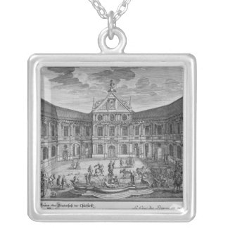 Slott på Munich, Tyskland Silverpläterat Halsband