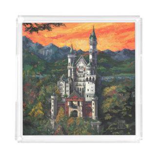 Slott Schloss Neuschwanstein Bricka