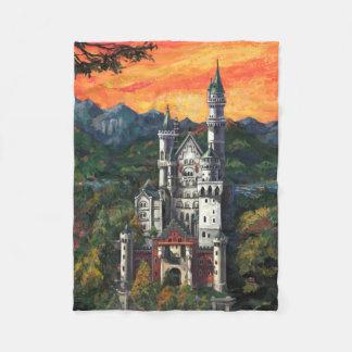 Slott Schloss Neuschwanstein Fleecefilt
