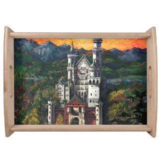 Slott Schloss Neuschwanstein Serveringsbricka