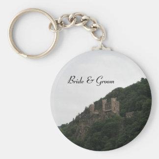 Slott som gifta sig Keychain Nyckel Ring