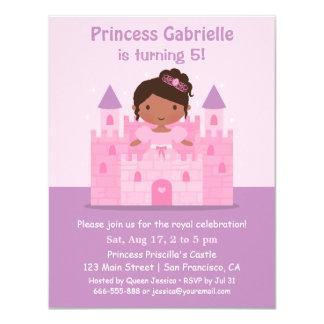 Slottafrikansk amerikanPrincess födelsedagsfest 10,8 X 14 Cm Inbjudningskort