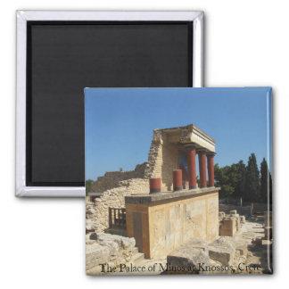 Slotten av Minos på Knossos, Crete, GREKLAND Magnet