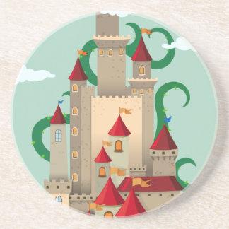 Slottet står hög med den taggiga växten underlägg