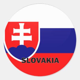 Slovakien Roundel kvalitets- flagga Runt Klistermärke