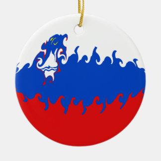 Slovenien Gnarly flagga Rund Julgransprydnad I Keramik